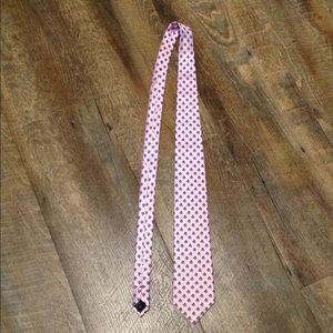 NEW 100% Silk Tie Men's Sailboat Pink Blue